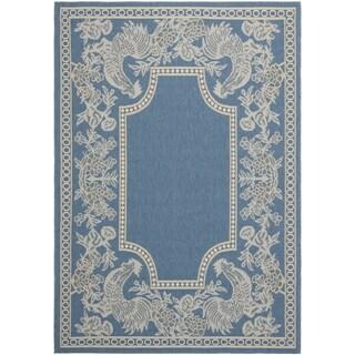 Safavieh Rooster Blue/ Natural Indoor/ Outdoor Rug