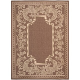 Safavieh Courtyard Chocolate/ Natural Indoor Outdoor Rug