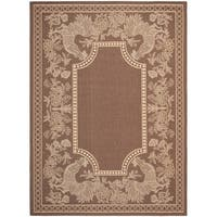 Safavieh Rooster Chocolate/ Natural Indoor/ Outdoor Rug