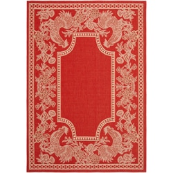 Safavieh Courtyard Red/ Natural Indoor/Outdoor Rug (2' x 3'7)