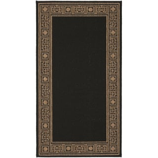Safavieh Courtyard Black/ Coffee Brown Indoor/ Outdoor Rug