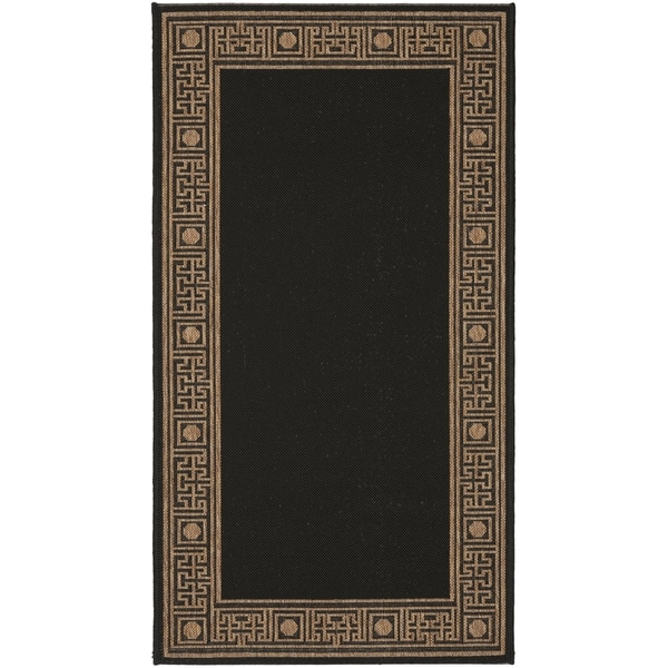 Safavieh Courtyard Black Coffee Brown Indoor Outdoor Rug On Free Shipping Today 7356976