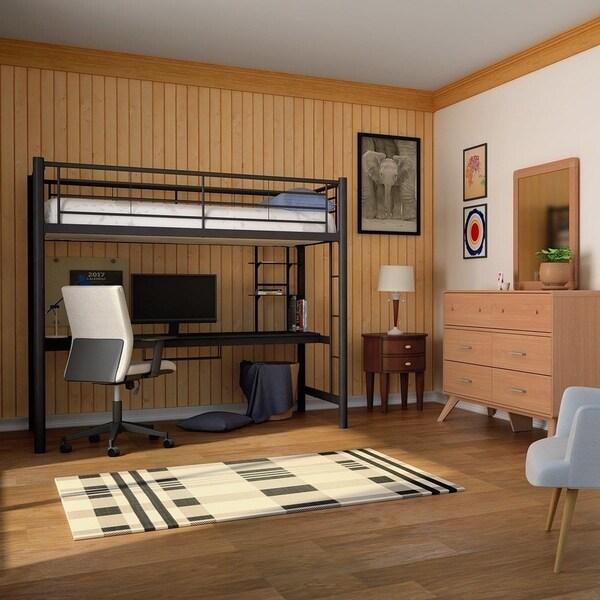 Safavieh Courtyard Plaid Black/ Bone Indoor/ Outdoor Rug