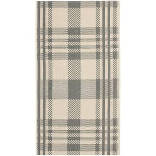 Safavieh Courtyard Plaid Grey/ Bone Indoor/ Outdoor Rug|https://ak1.ostkcdn.com/images/products/7356995/P14819381.jpg?impolicy=medium