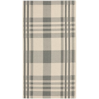 Safavieh Courtyard Plaid Grey/ Bone Indoor/ Outdoor Rug (More options available)