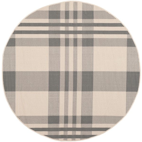 Safavieh Courtyard Plaid Grey/ Bone Indoor/ Outdoor Rug   Free Shipping  Today   Overstock.com   14819381