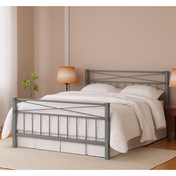 Amar Silver Finish King Bed
