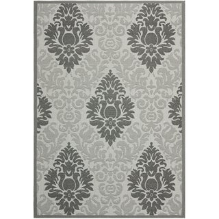 Safavieh Courtyard Light Grey/ Anthracite Grey Indoor Outdoor Rug