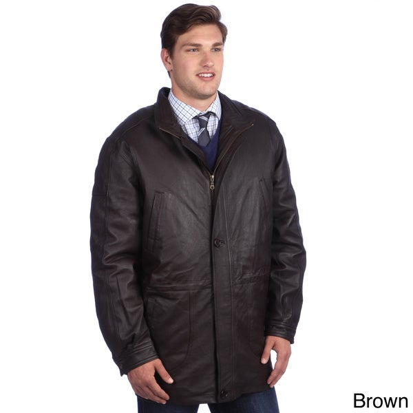 Ramonti Mens Long Leather Jacket