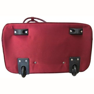 Amerileather Deluxe Skylar Large Women's 15-inch Rolling Laptop Tote