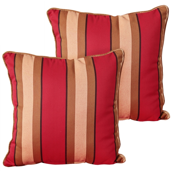 RST Outdoor 'Cantina' Stripe Outdoor Square Pillows (Set of 2)