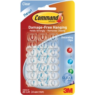 3M Command Clear Decorating Clips (Pack of 20)