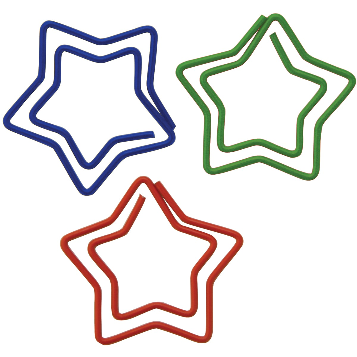 Baumgartens Star-shaped Carded Paper Clips (Pack of 20) (...