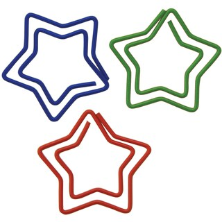 Star-shaped Carded Paper Clips (Pack of 20)
