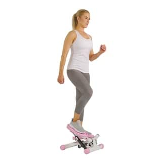 Sunny Health and Fitness P8000 Pink Adjustable Twist Stepper|https://ak1.ostkcdn.com/images/products/7357123/P14819515.jpg?impolicy=medium