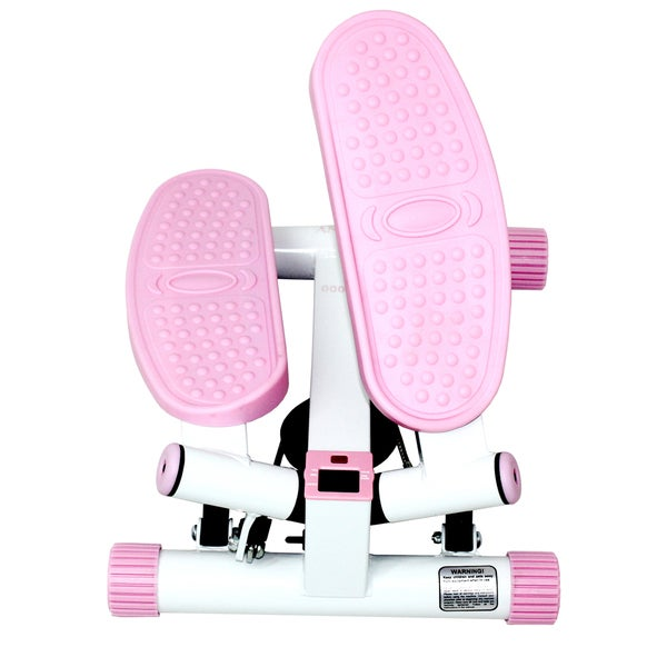 Sunny Health and Fitness P8000 Pink Adjustable Twist Stepper