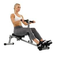 Sunny Health & Fitness SF-RW1205 12 Adjustable Resistance Rowing Machine Rower with Digital Monitor - Silver