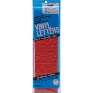 4-inch Red Gothic Permanent Adhesive Vinyl Letters