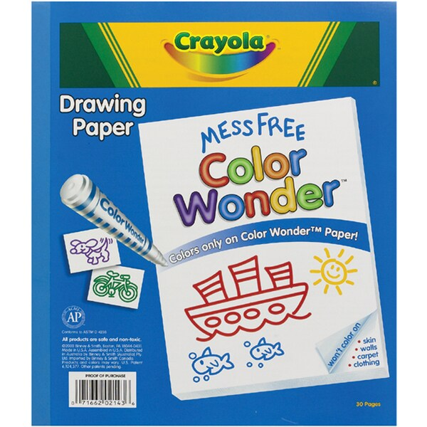 Crayola Color Wonder Drawing Paper (30 sheets)