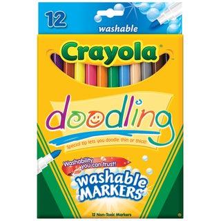 Crayola Doodling Washable Markers (Pack of 12)
