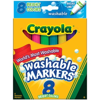 Crayola Broad Line Washable Felt-tip Markers (Pack of 8)