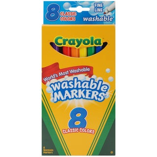 Crayola Fine Line Washable Markers (Pack of 8)