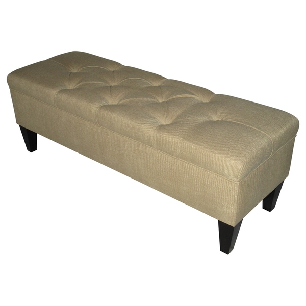 Sole Designs Sand Espresso Finish Storage Bench