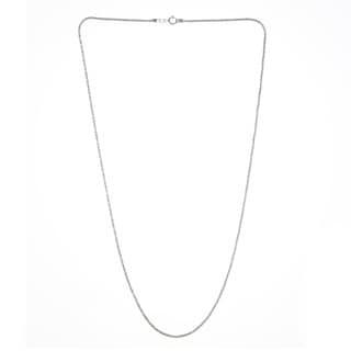 14k White Gold 1.1 MM Glitter Chain Necklace (16-20 inch)