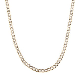 14k Two-tone Gold 4.2 MM Cuban Chain Necklace (18-24 inch)