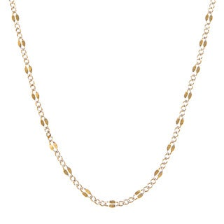 14K Two-tone Gold 3.2 MM Figaro Chain Necklace (16-24 inch)
