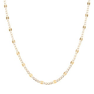 14K Two-tone Gold 3.7 MM Figaro Chain Necklace (16-24 inch)