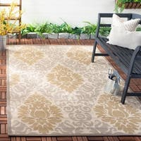 Safavieh Beige/Dark Beige Indoor/Outdoor Area Rug - 9' x 12'