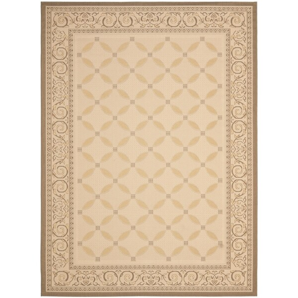 Safavieh Beige/ Dark Beige Indoor Outdoor Rug - 9' x 12'