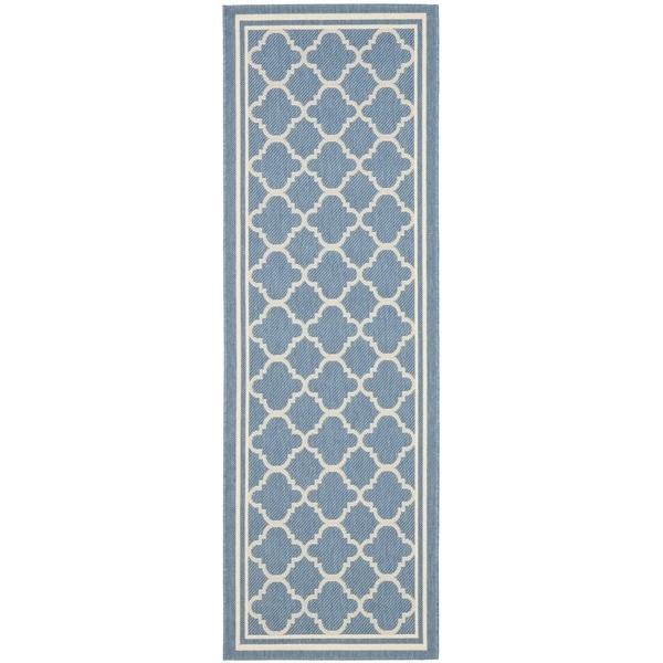 Safavieh Blue/ Beige Indoor/Outdoor - 2'2 x 12'