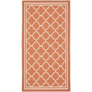 Safavieh Terracotta/ Bone Indoor Outdoor Rug (2' x 3'7)