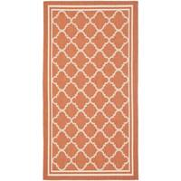 Safavieh Courtyard Kailani Terracotta/ Bone Indoor/ Outdoor Rug - 2' x 3'7""