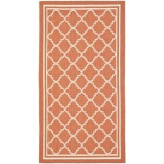 Safavieh Terracotta/ Bone Indoor Outdoor Rug (2' x 3'7) - 2' x 3'7