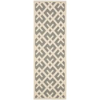 Safavieh Grey/ Bone Indoor Outdoor Rug (2'2 x 12')