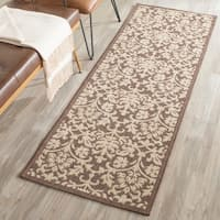 Safavieh Seaview Chocolate/ Natural Indoor/ Outdoor Rug - 2'2 X 12'
