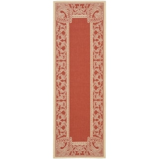 Safavieh Abaco Red/ Natural Indoor/ Outdoor Rug (2'2 x 12')