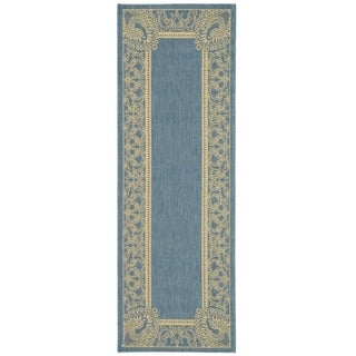 "Safavieh Abaco Blue/ Natural Indoor/ Outdoor Runner Rug (2'2"" x 14')"