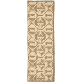 Safavieh Matrix Brown/ Natural Indoor/ Outdoor Rug (2'4 x 9'11)