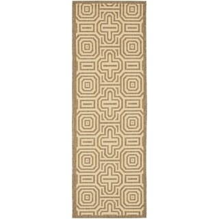 Safavieh Matrix Natural/ Brown Indoor/ Outdoor Rug (2'4 x 9'11)