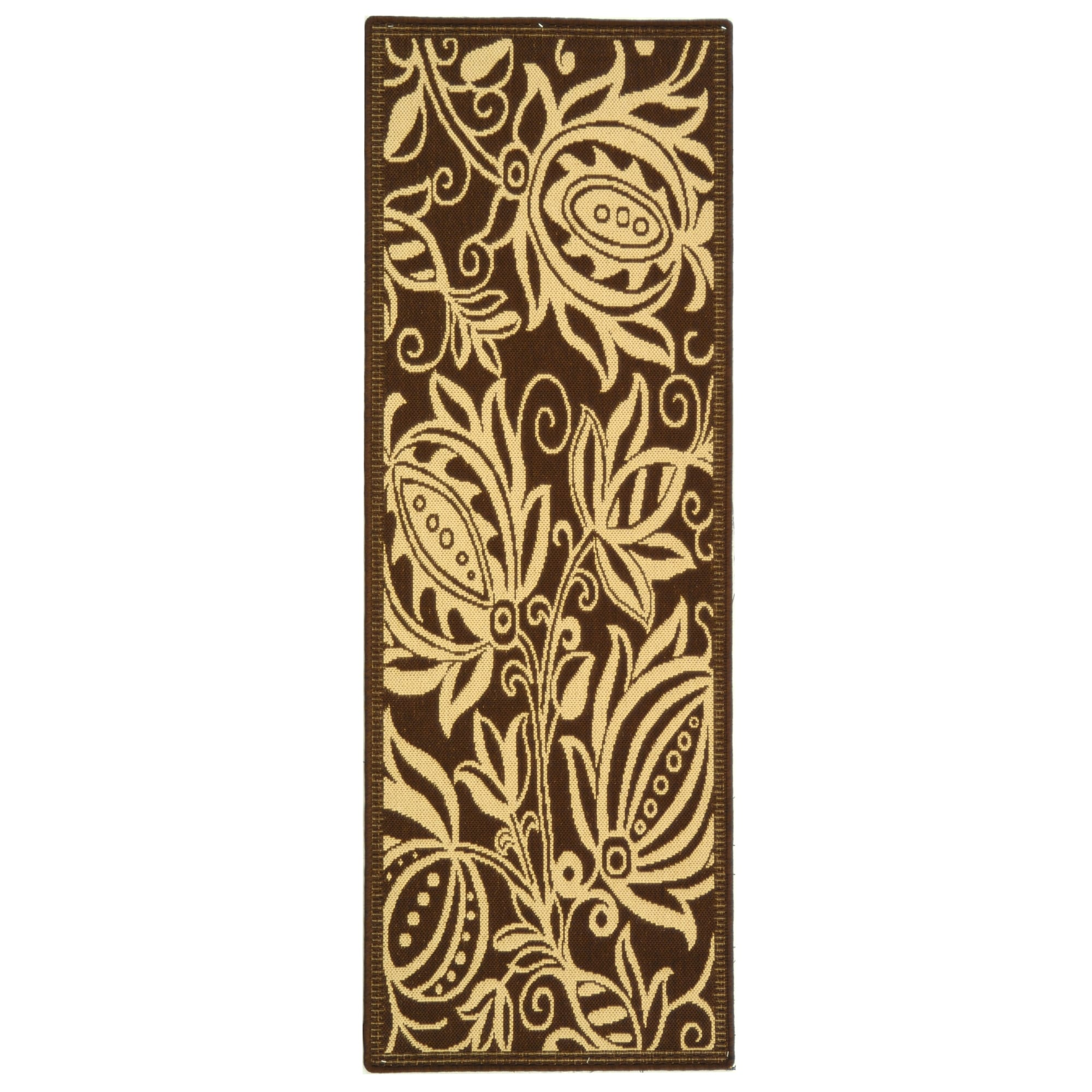 Safavieh Andros Chocolate Natural Indoor Outdoor Runner Rug 2 2