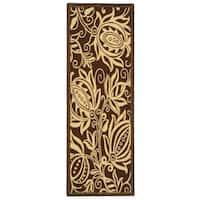 Safavieh Andros Chocolate/ Natural Indoor/ Outdoor Runner Rug - 2'2 x 14'