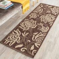 "Safavieh Andros Chocolate/ Natural Indoor/ Outdoor Runner Rug - 2'3"" x 14' Runner"