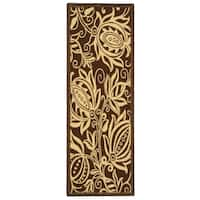 Safavieh Andros Chocolate/ Natural Indoor/ Outdoor Rug - 2'2 X 12'