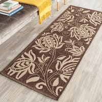 "Safavieh Andros Chocolate/ Natural Indoor/ Outdoor Rug - 2'3"" x 12'"
