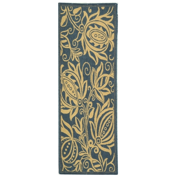 Safavieh Andros Blue/ Natural Indoor/ Outdoor Rug (2'2 x 12')