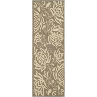Safavieh Brown/ Natural Indoor/ Outdoor Polypropylene Rug (2'2 x 14')